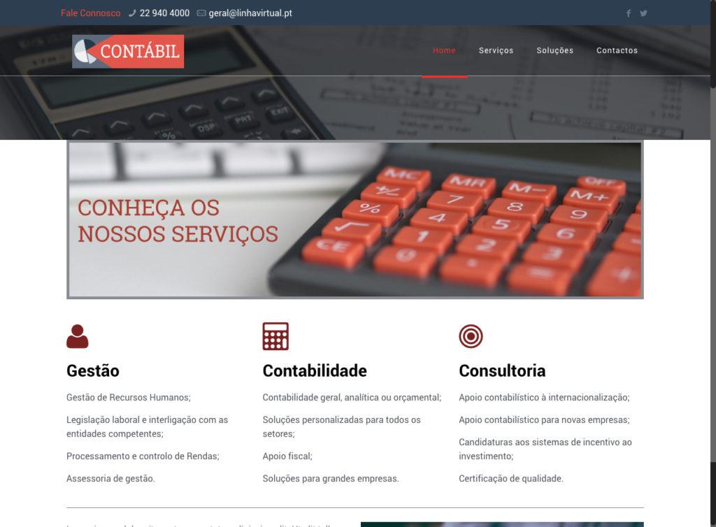 Modelos de Website Contabilidade Homepage Linha Virtual