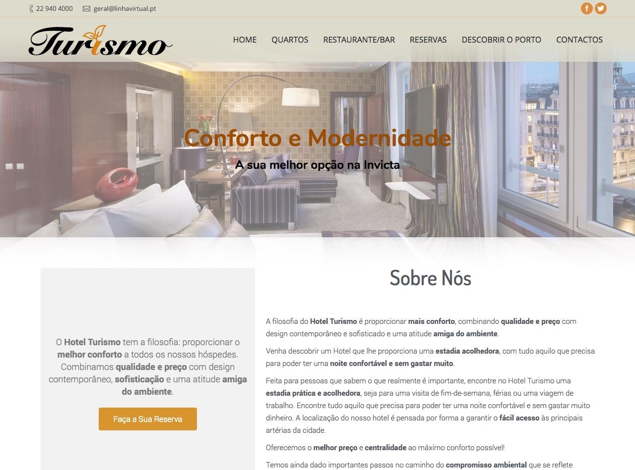 Modelos de Website Hotelaria Empresa Linha Virtual