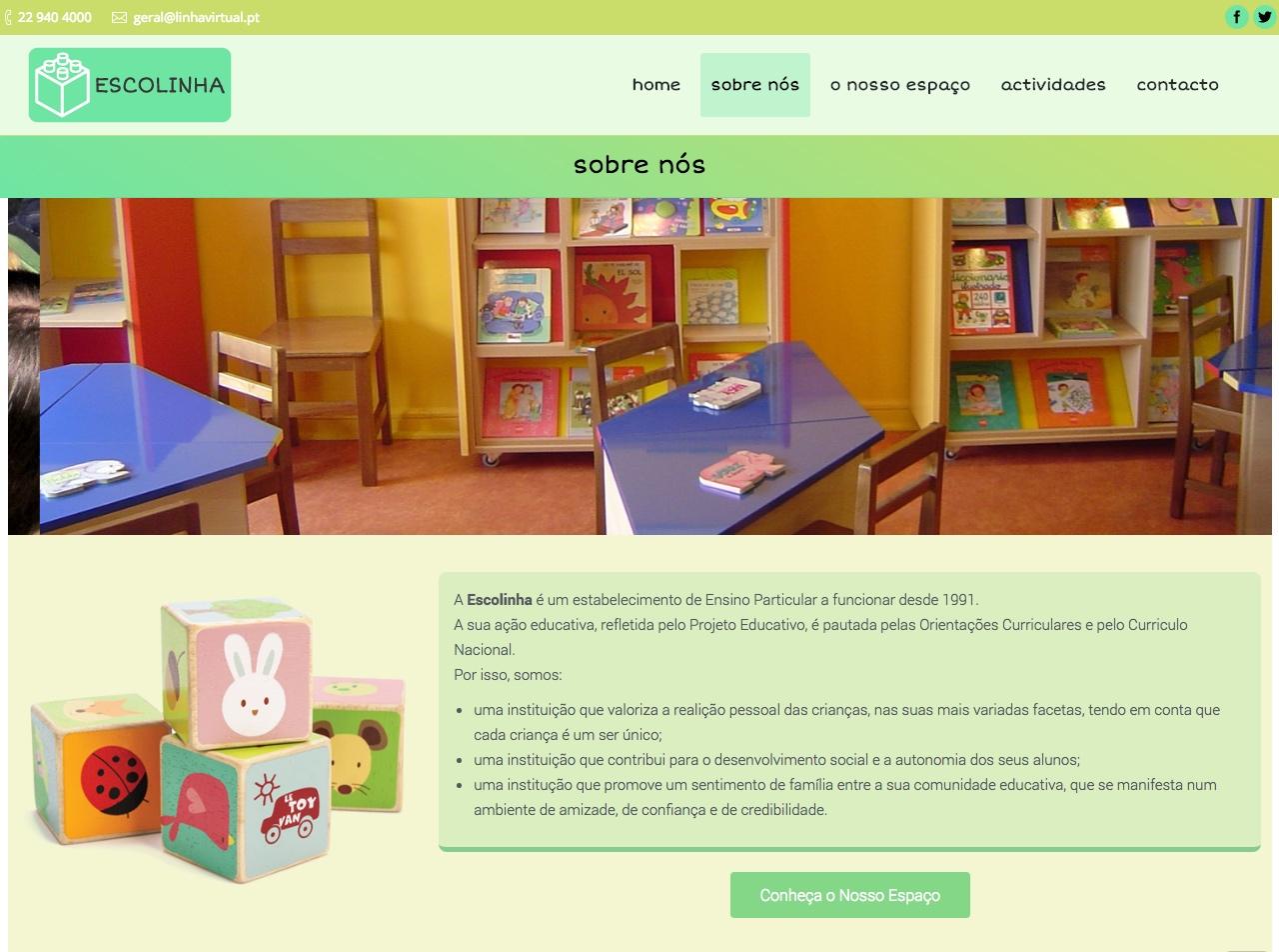 Modelos de Website Escolas Sobre Linha Virtual