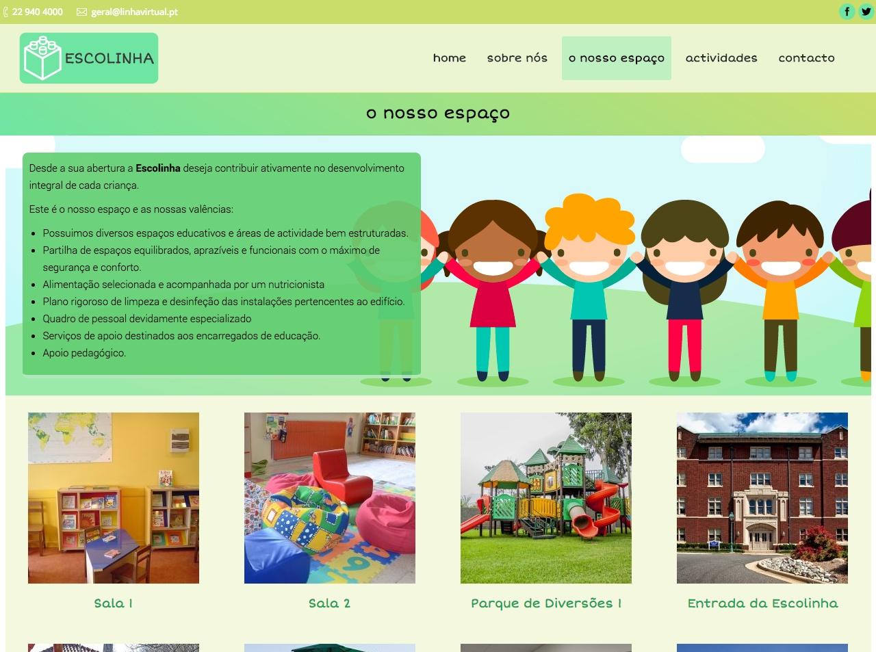 Modelos de Website Escolas Espaço Linha Virtual