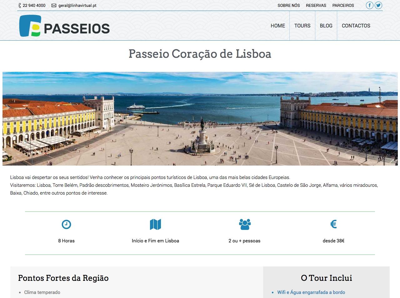 Modelos de Website Turismo Tour Linha Virtual