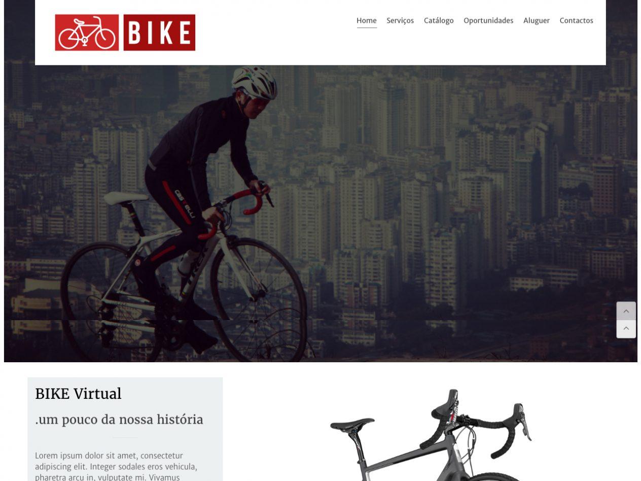 Modelos de Website Bibicletas Homepage Linha Virtual
