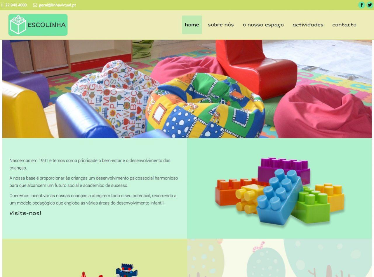Modelos de Website Escolas Homepage Linha Virtual