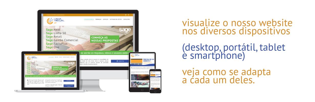 Web Design Responsivo Linha Virtual