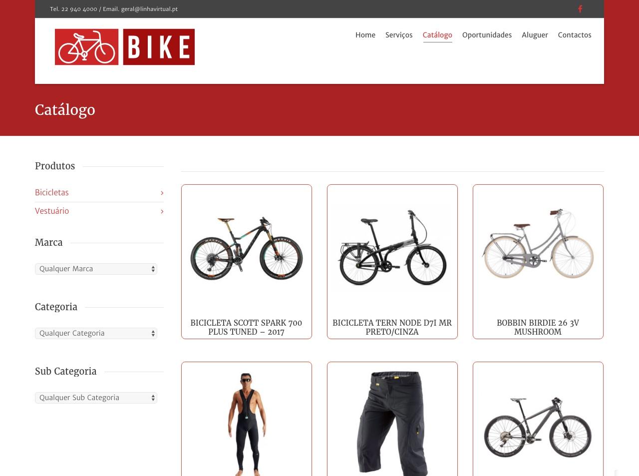 Modelos de Website Bicicletas Loja Linha Virtual