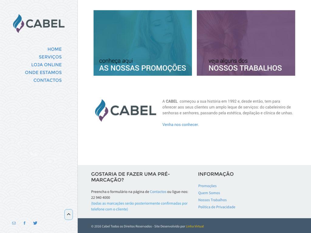 Modelos de Website Cabeleireiros Homepage Linha Virtual