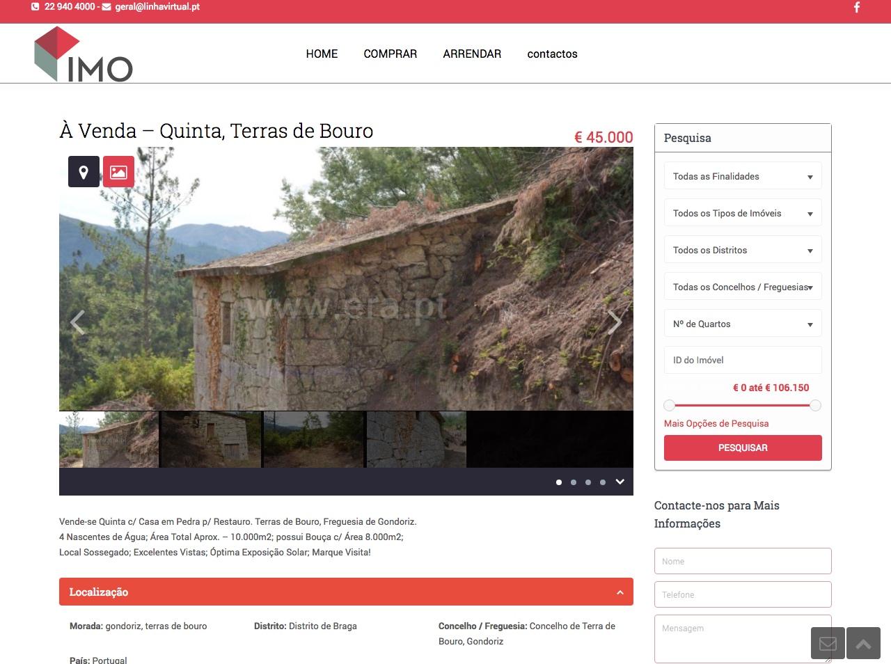 Modelos de Website Imobiliárias Artigo Linha Virtual