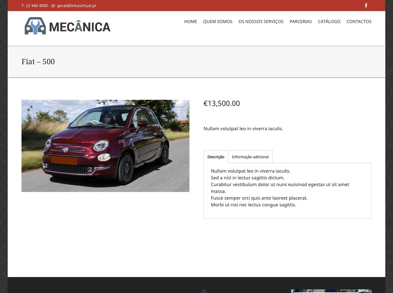 Modelos de Website Mecânicas Artigo Linha Virtual