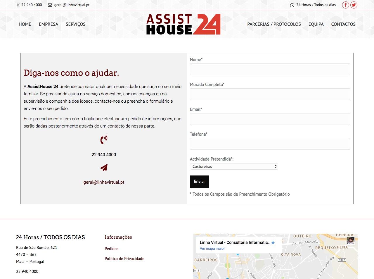 Modelos de Website Serviços Domésticos Formulário Linha Virtual