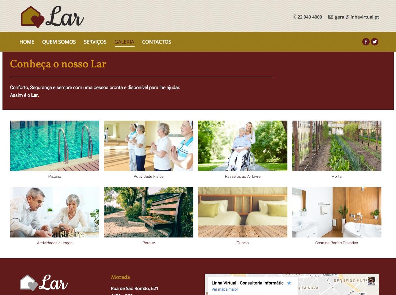 Modelos de Website Lares Galeria Linha Virtual