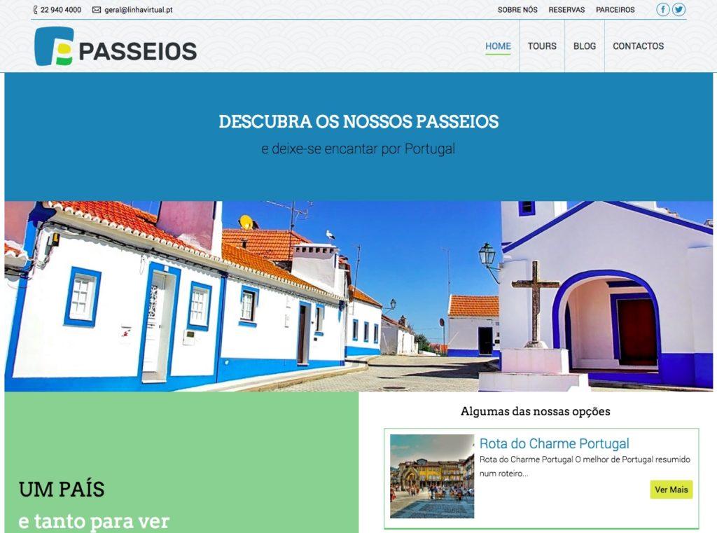 Modelos de Website Turismo Homepage Linha Virtual