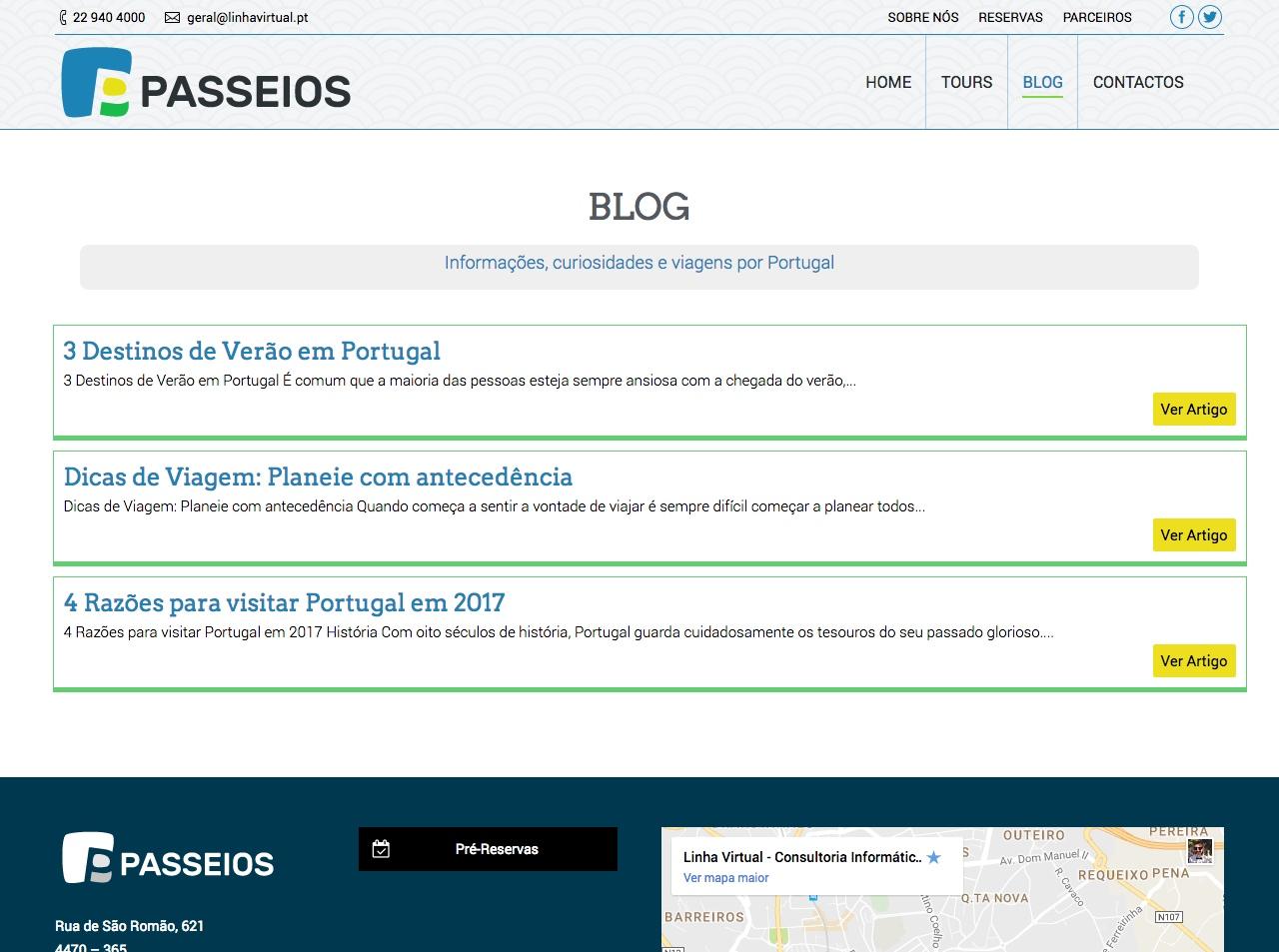 Modelos de Website Turismo Blog Linha Virtual