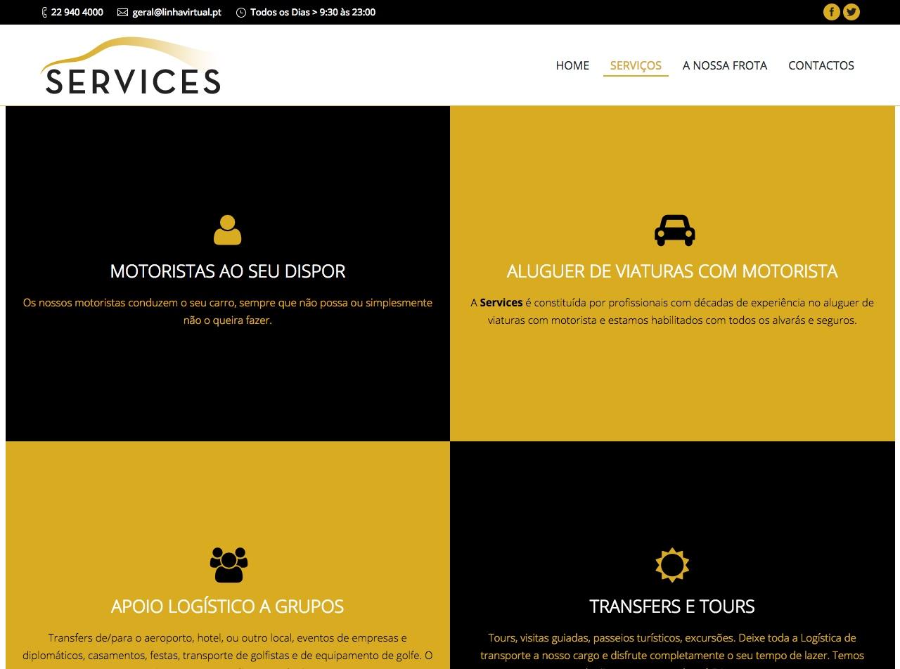 Modelos de Website Serviços Linha Virtual