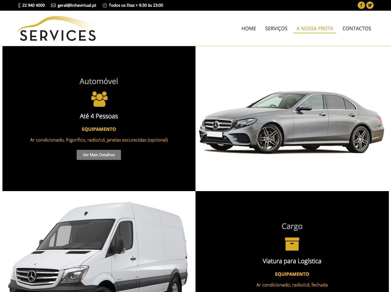 Modelos de Website Serviços Frota Linha Virtual