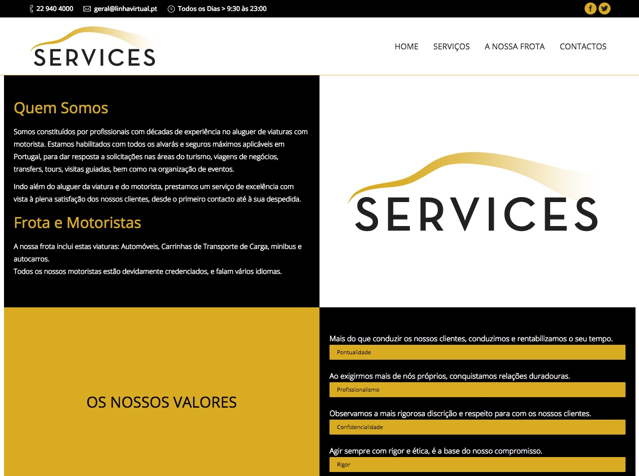 Modelos de Website Serviços Empresa Linha Virtual