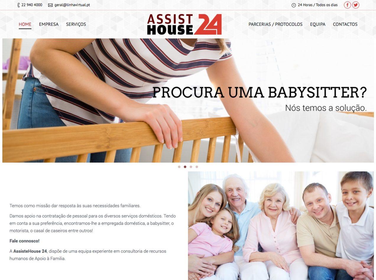 Modelos de Website Serviços Domésticos Homepage Linha Virtual