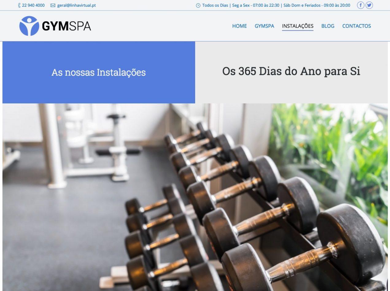 Modelos de Website Ginásios Homepage Linha Virtual