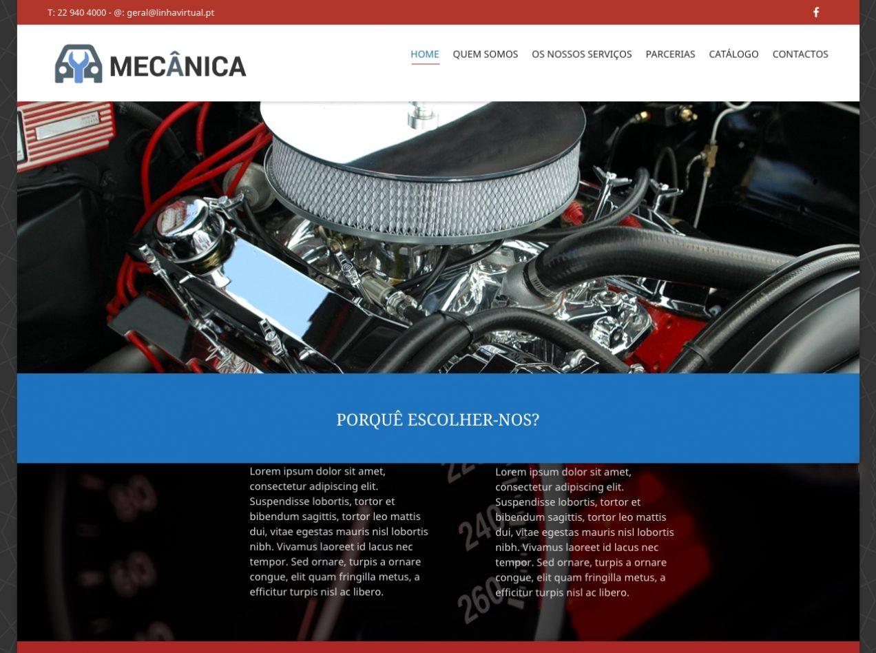 Modelos de Website Mecânicas Homepage Linha Virtual