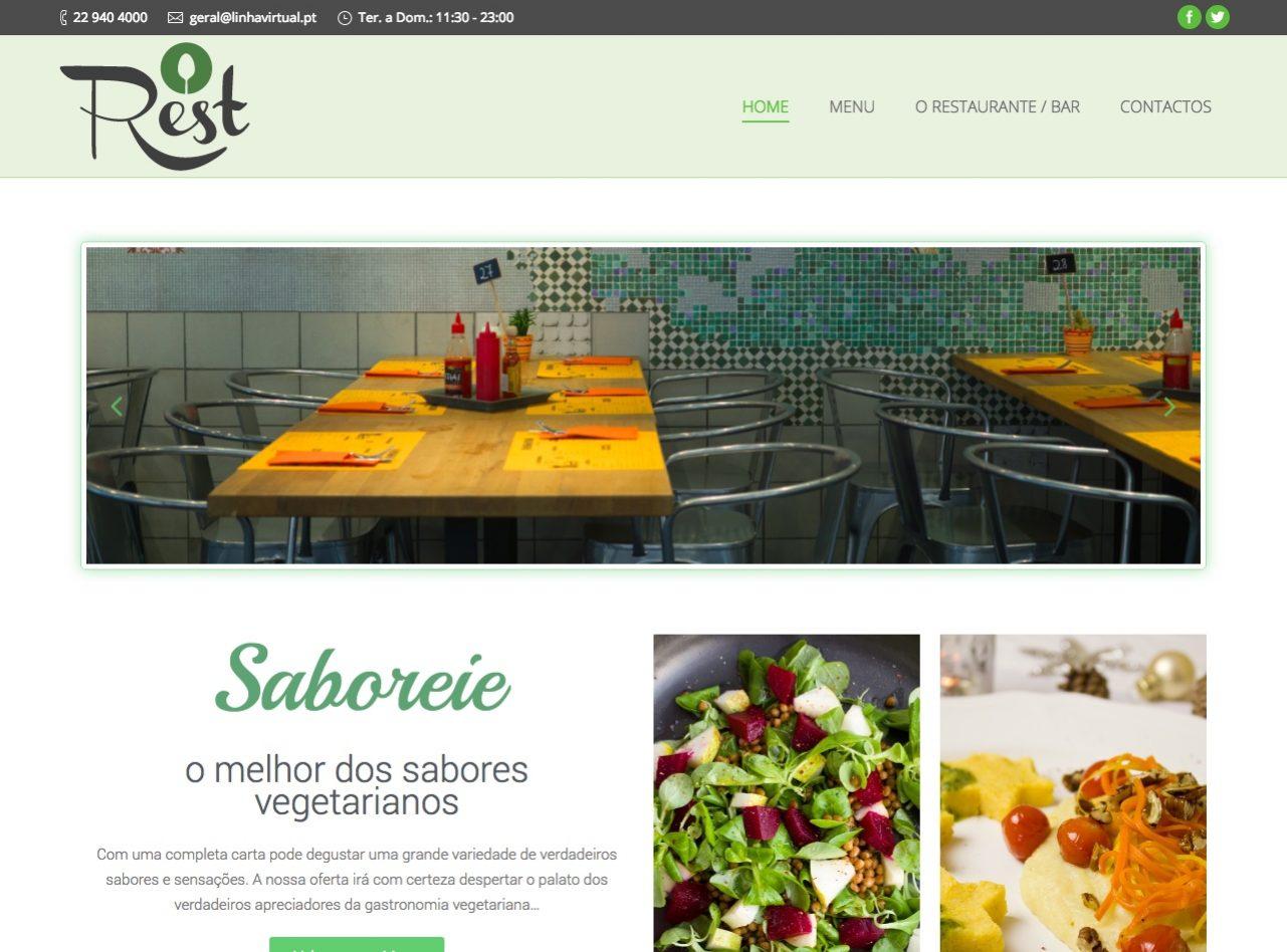 Modelos de Website Restaurantes Homepage Linha Virtual