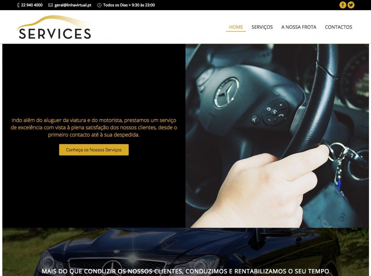 Modelos de Website Serviços Homepage Linha Virtual